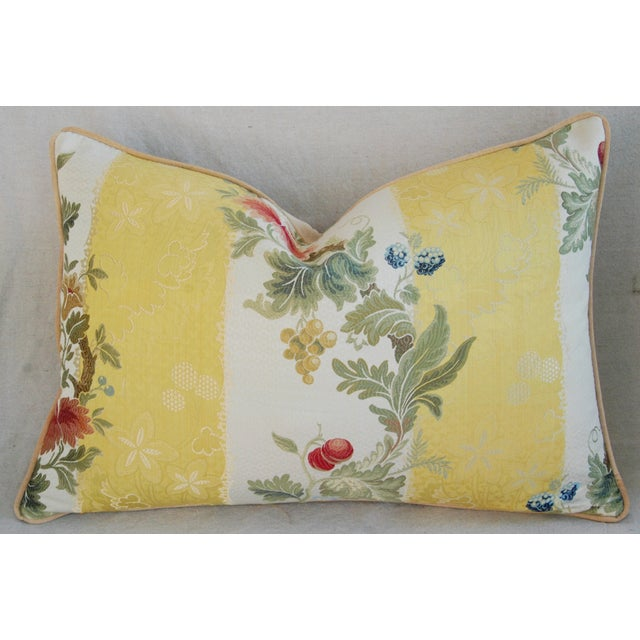"26"" X 18"" Designer Scalamandre Silk Lampas Feather/Down Pillows - Pair - Image 4 of 10"