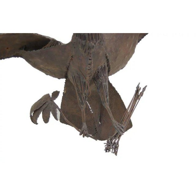 American Late 20th Century Symbolic American Bald Eagle Pieced Steel Sculpture For Sale - Image 3 of 7