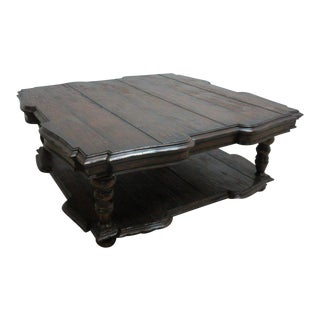 Jonathan Charles Distressed Coffee Table For Sale