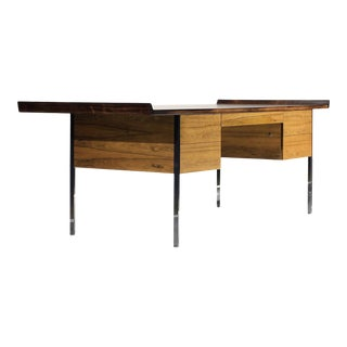 1950s Harvey Probber Bleached Rosewood Executive Desk For Sale