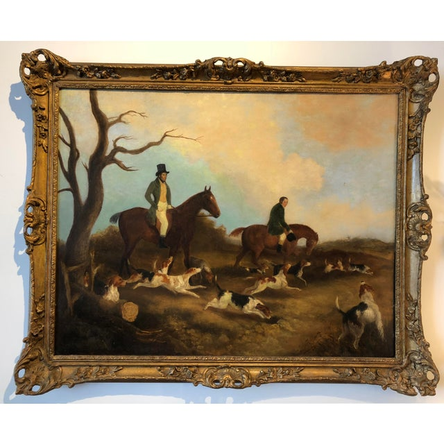 English Hunt Scene Painting For Sale - Image 6 of 6
