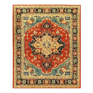 """Pasargad Pak Serapi Design Hand-Knotted Rug - 8'1"""" X 9'10"""" For Sale"""