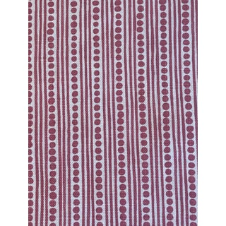 Traditional Lee Jofa / Blithfield Linen Wicklewood Reverse Dark Pink Fabric - 2 5/8 Yards For Sale