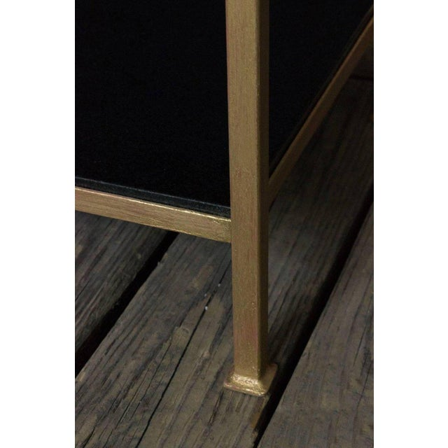 Gold Marcelo Iron End Table With Polished Granite Surface For Sale - Image 8 of 11