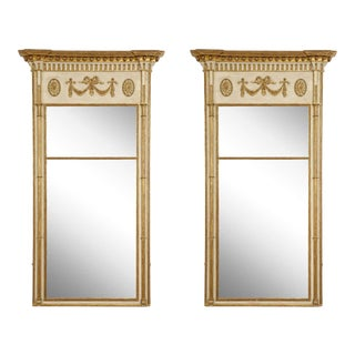 George III Painted and Parcel Gilt Mirrors - a Pair For Sale