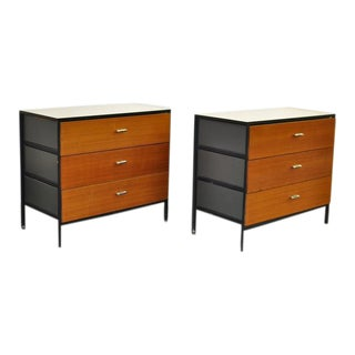 Pair of George Nelson Steel Frame Dressers