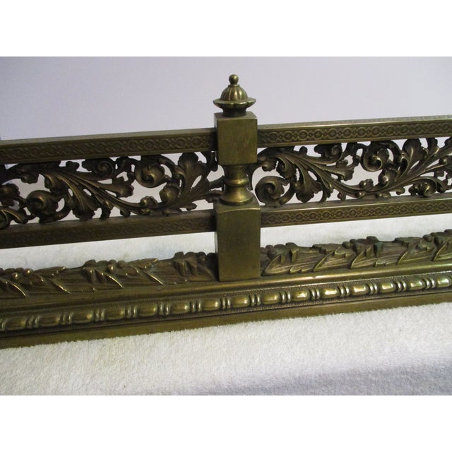 French Style Bronze Fire Fender For Sale In New York - Image 6 of 8
