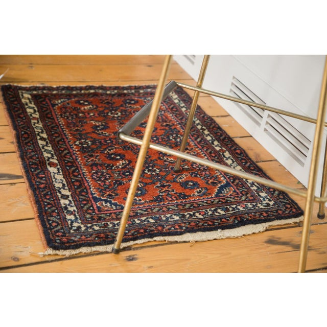 "Islamic Vintage Persian Engelas Rug Mat - 2' X 2'6"" For Sale - Image 3 of 7"