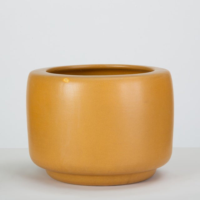 Contemporary Cp-13 Tire Planter in Yellow Glaze by John Follis for Architectural Pottery For Sale - Image 3 of 10