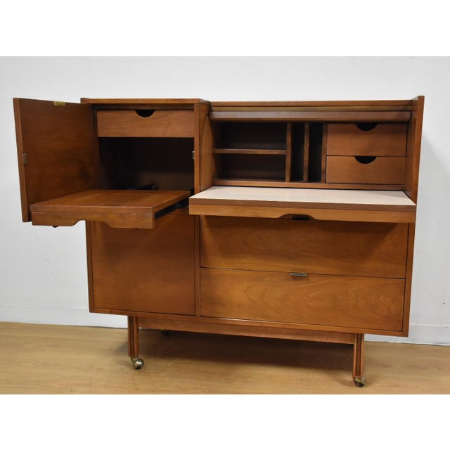 Brown Mainline by Hooker Roll Top Desk For Sale - Image 8 of 11