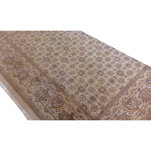 """MANSOUR Mansour Genuine Handwoven Tabriz Rug - 5'10"""" X 8'9"""" For Sale - Image 4 of 5"""