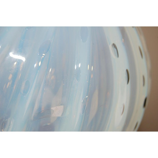 Vintage Murano White Opaline Glass Table Lamps For Sale - Image 11 of 12