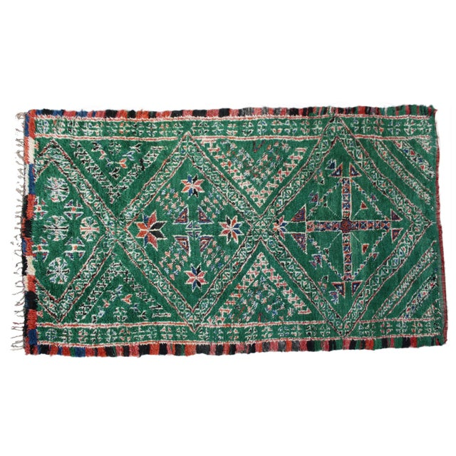 Mid 20th Century Moroccan Rug - 10'9'' X 6'4'' For Sale - Image 5 of 5