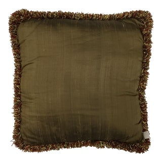 Boho Chic Thai Tussah Silk Accent Pillow For Sale