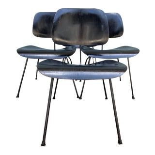 1950s Eames Dcm Molded Plywood Side Chairs - Set of 4 For Sale