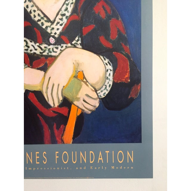 "Paper Henri Matisse Vintage 1991 Lithograph Print Museum Poster "" Madame Matisse Madras Rouge "" 1907 For Sale - Image 7 of 13"
