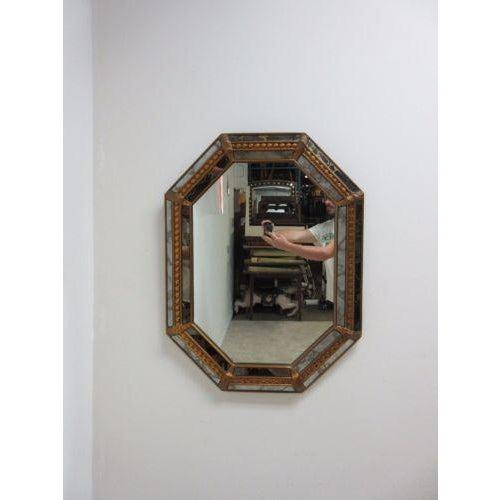 Vintage Italian Venetian Decorator Hanging Wall Console Mirror - Image 2 of 5