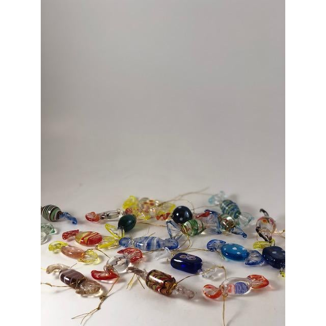 Glass Vintage Italian Mouthblown Murano Candy Glass Figurines- Set of 18 For Sale - Image 7 of 7
