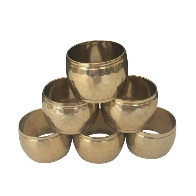 Vintage Brass Napkin Rings - Set of 6 - Image 1 of 4