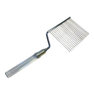 Mid Century Modern Fb Rogers Stainless Steel Lucite Cake Breaker Comb For Sale