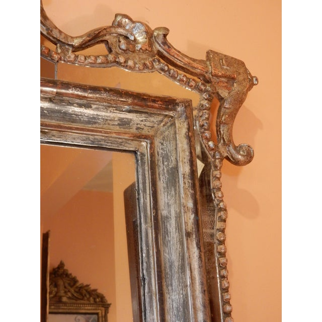 Early 19th Century Directoire' Worn Silver Gilt Mirror For Sale - Image 5 of 10