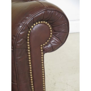 1980s Vintage Brown Tufted Leather Chesterfield Sofa Preview