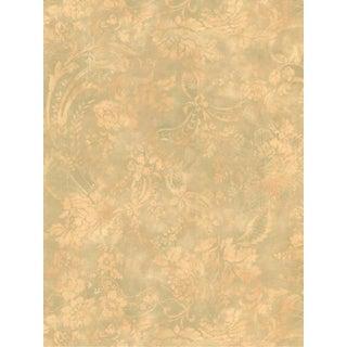 York Fine Sage Green Fresco Book Wallpaper - Set of 10 For Sale