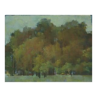 "Kathleen Dunn ""Woods"" Landscape Pastel Drawing on Paper For Sale"