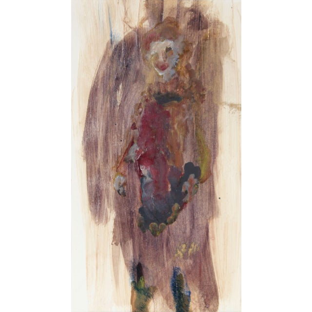 Expressionism Distemper Painting, Portrait of San Francisco Poet Madeline Gleason, Circa 1960s For Sale - Image 3 of 3