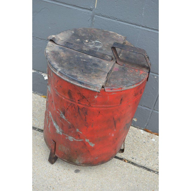 Industrial Rag Bin with Hinged Lid - Image 4 of 10
