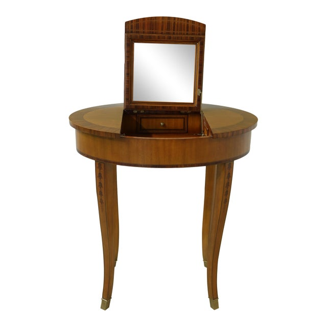 Maitland Smith Satinwood Adam Style Vanity Table For Sale - Image 12 of 12