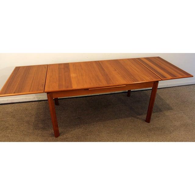 Mid-Century Danish Modern BRDR Furbo Extendable Teak Dining Table - Image 5 of 11
