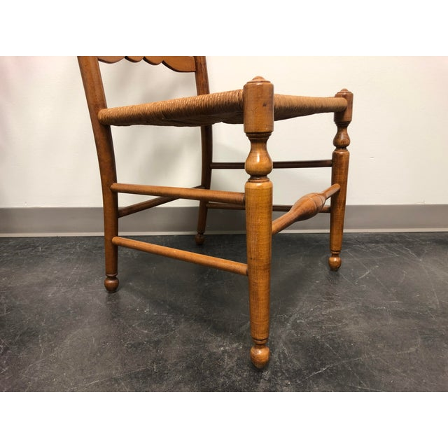 Ethan Allen Ladder Back Rush Seat Dining Side Chairs - Pair 1 For Sale - Image 9 of 10