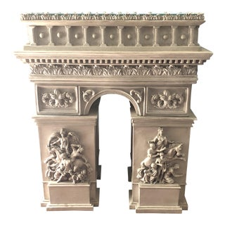 Arc De Triomphe Replica Table With Beveled Glass Top For Sale