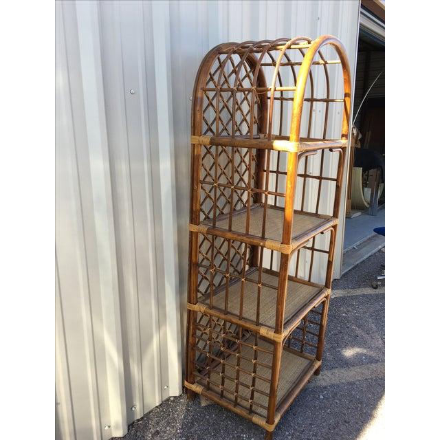 Rattan & Wicker Boho Chic Shelf Unit For Sale - Image 10 of 10