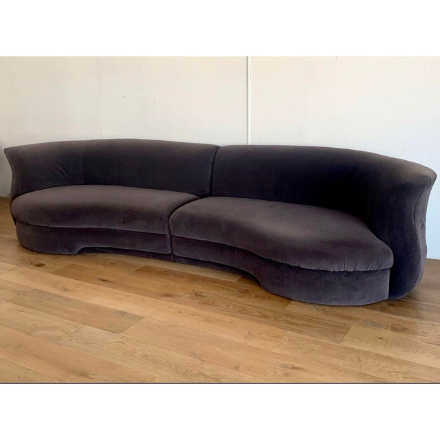Available right now I have this gorgeous 2 piece sectional in the style of Vladimir Kagan. This Vladimir Kagan style...