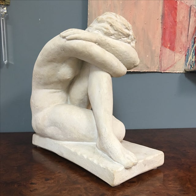 Modern Terra-Cotta Sculpture of Bashful Lady - Image 6 of 7