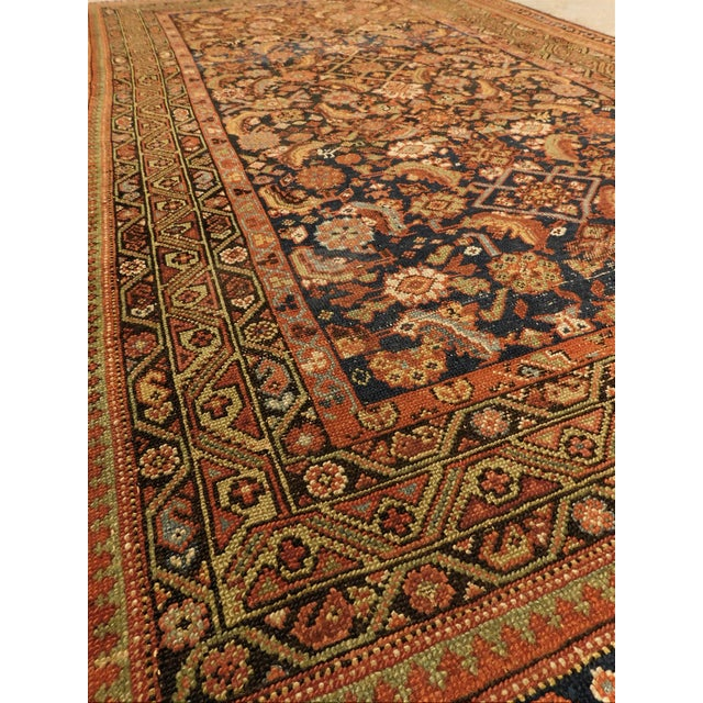 1900 Antique Persian Fereghan Rug For Sale - Image 9 of 13