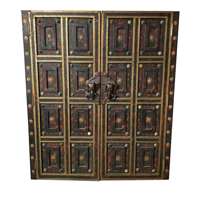 Brown 1980s Vintage Ornate Panel Door Set- A Pair For Sale - Image 8 of 8
