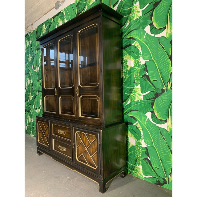 Asian Chinoiserie China Cabinet By American Of