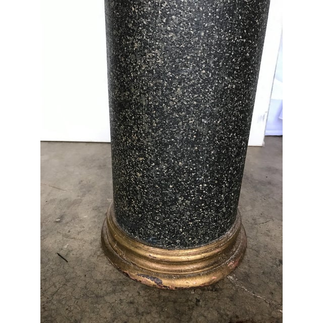Neoclassical 18th Century Neoclassical Faux Porphyry Columns - a Pair For Sale - Image 3 of 5