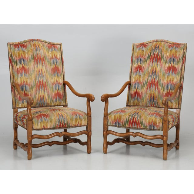French Os De Mouton Style Armchairs - A Pair For Sale - Image 11 of 11