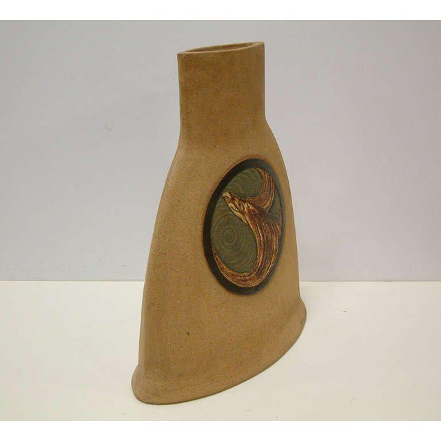 Ceramic 1978 Nittenegger Stoneware Vase For Sale - Image 7 of 10