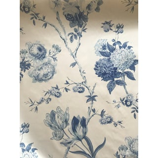 "Lee Jofa for Parish Hadley ""Allegra"" Blue and White Fabric - 2 Yards For Sale"