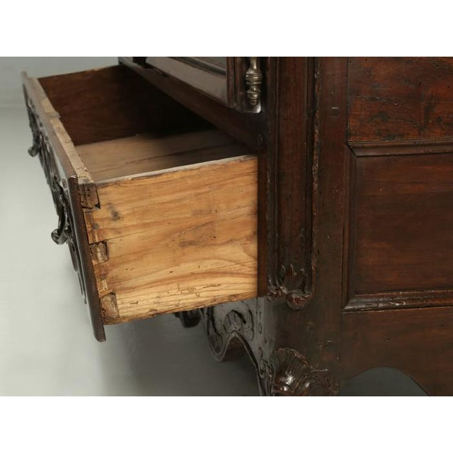 Antique French Walnut Armoire or China Cabinet For Sale - Image 12 of 13