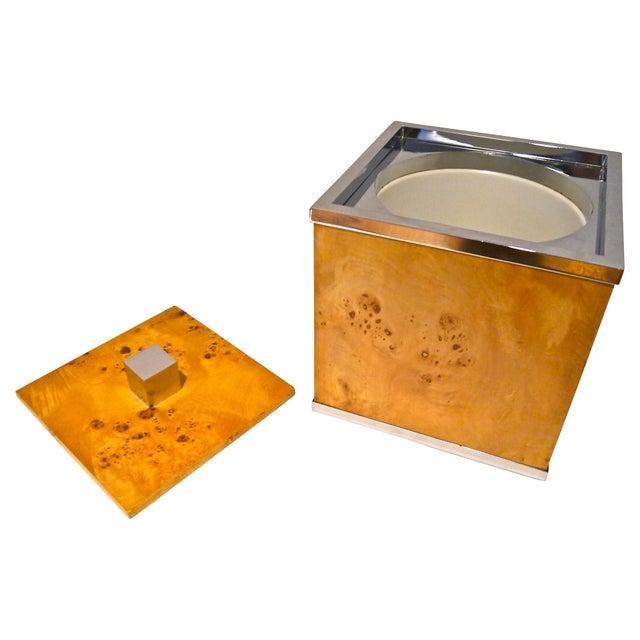 Burlwood and Chrome Italian Ice Bucket - Image 3 of 7