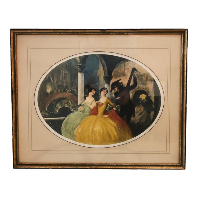 """""""Venice Carnival"""" Aquatint by William Lambrecht For Sale"""