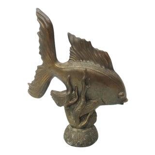 Antique Art Deco GoldFish Sculpture For Sale