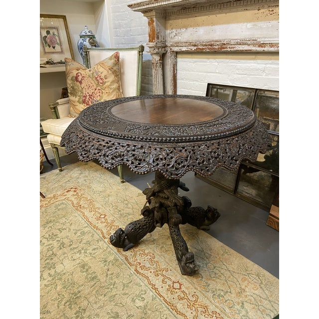 19th Century Burmese Round Center Table For Sale - Image 10 of 10