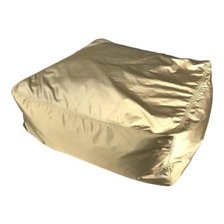West Elm Gold Beanbag Ottoman Coffee Patio Table